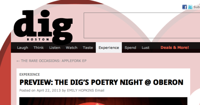 DigBoston Homepage