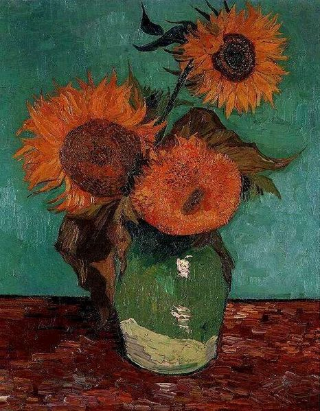 """Vase with Three Sunflowers"" by Vincent Van Gogh"