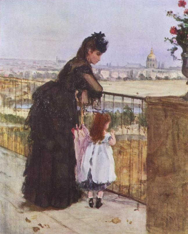 Femme et Enfant sur un balcon by Berthe Morisot