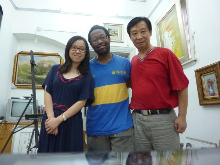 Jun (left), David (right) and I (center). credit: David/In Parentheses