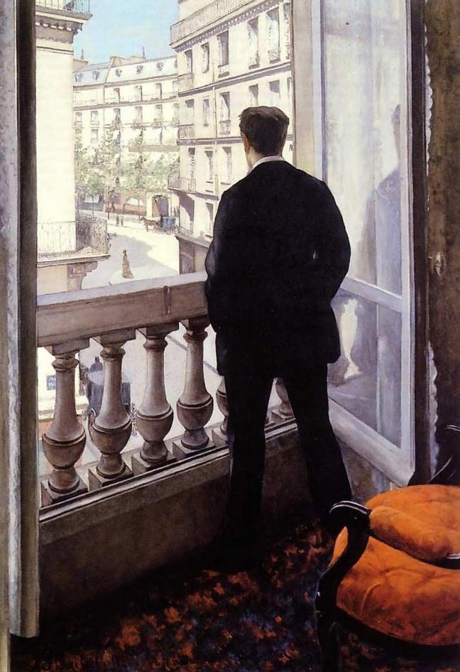 Gustave Caillebotte, Jeune homme à sa fenêtre