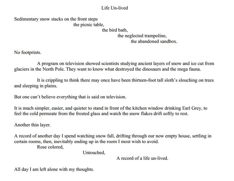 lulu carrigan - life unlived