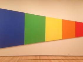 Ellsworth Kelly's Blue Green Yellow Orange Red, photo by Phillipe Chatelain (MFA Boston)