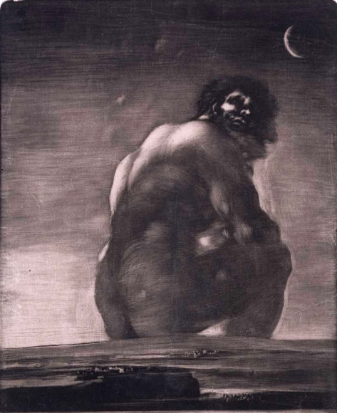 El Gigante by Francisco de Goya
