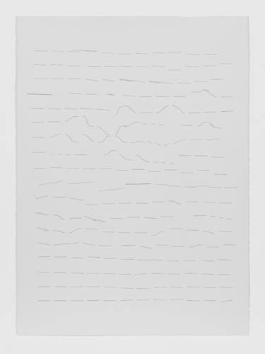 Variations, One (listening to Feldman) (2012), ink on paper, 24 x 30 inches