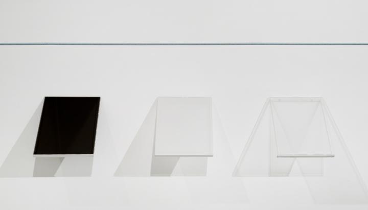 Screen (I, II, III) (2012), glass, liquid crystal, polarizer, diffuser film, prism film, acrylic, 12 x 15 inches