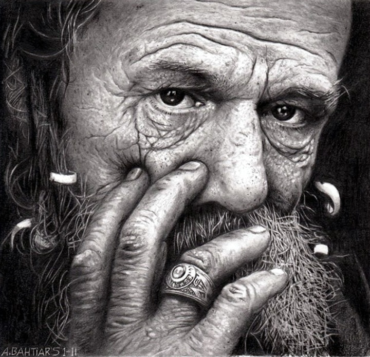 Old Man by Arif Bahtiar