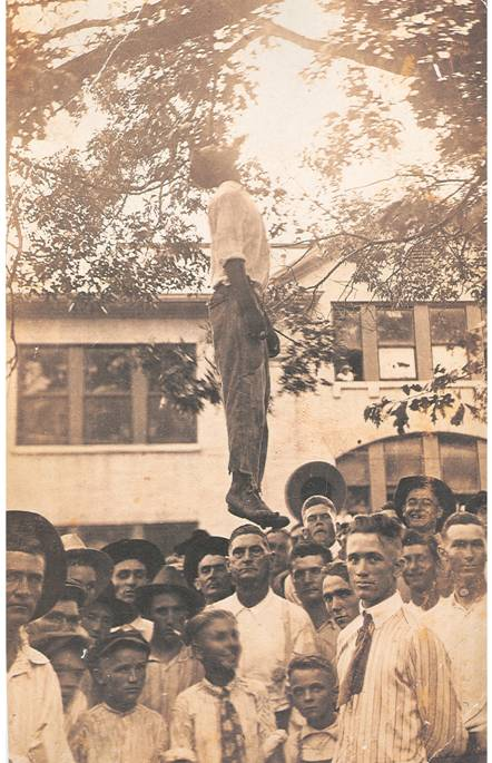 The lynching of Lige Daniels. August 3, 1920, Center, Texas.
