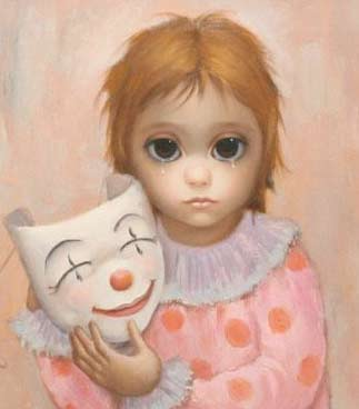 Big Eyes Meets Sad Clown by Margaret Keane