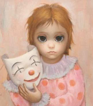 Big Eyes Meets Sad Clown by Margaret Keane