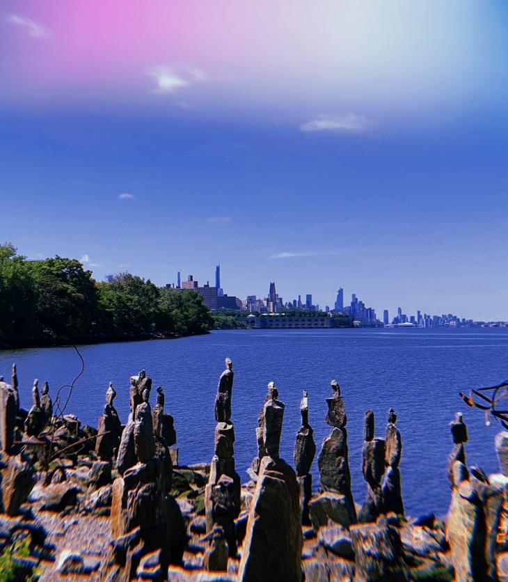 sisyphus stones - hudson river - manhattan nyc - phillipe martin chatelain - in parentheses - 2020 - volume 6